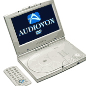AudioVox 8-inch portable DVD Player, #D1817